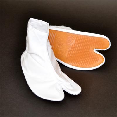 画像1: 【祭足袋】地下足袋(祭足袋)ゴム底 (白)三枚こはぜ14cm〜20cm (1)