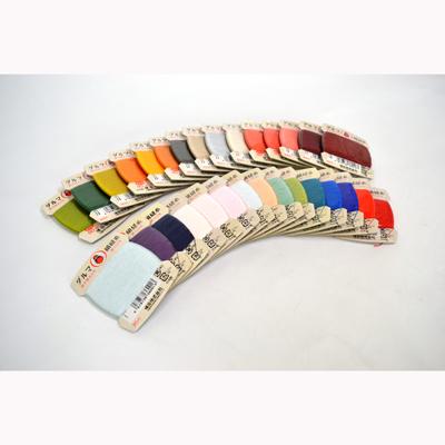画像1: 【絹糸】【ダルマ絹縫糸】 絹手縫糸9号 (色番1〜19)全163色 (1)