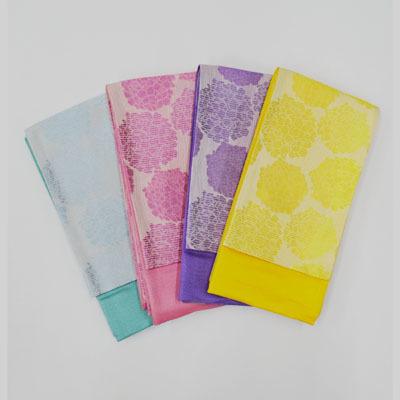 画像1: 【小袋帯】【ラベル花】 ゆかた小袋帯(紫陽花柄) 4色展開 (1)