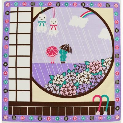 画像1: 【小風呂敷】【四季彩布】 梅雨 (1)