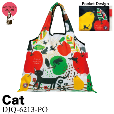 画像1: [エコバッグ:2way shopping bag] Cat《DESIGNERS JAPAN》 (1)