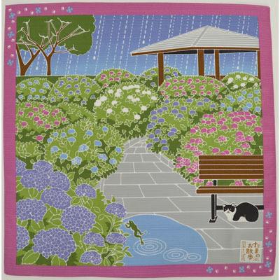 画像1: 【小風呂敷】【たまのお散歩】 6月あじさい (1)