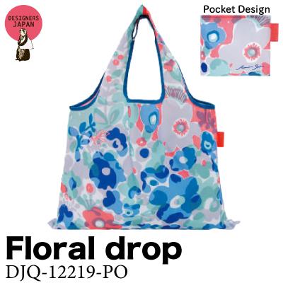 画像1: [エコバッグ:2way shopping bag] Floral drop《DESIGNERS JAPAN》 (1)