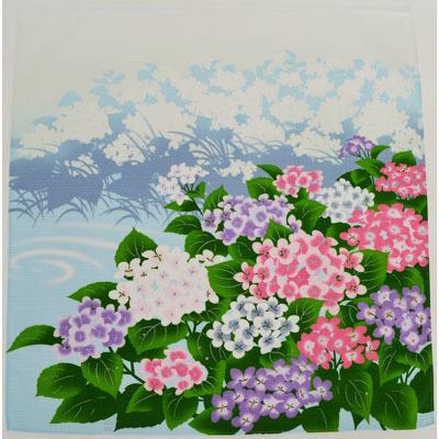画像1: 【小風呂敷】 季節の小風呂敷 「あじさい」 (1)