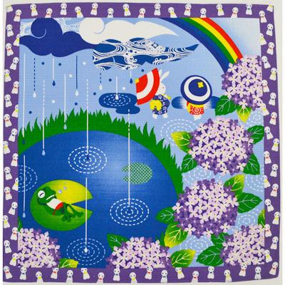 画像1: 【小風呂敷】【四季彩布】 紫陽花 (1)