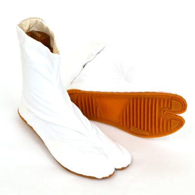 画像1: 【祭足袋】 祭り地下足袋「きねや無敵地下足袋」7枚こはぜ(白) (1)