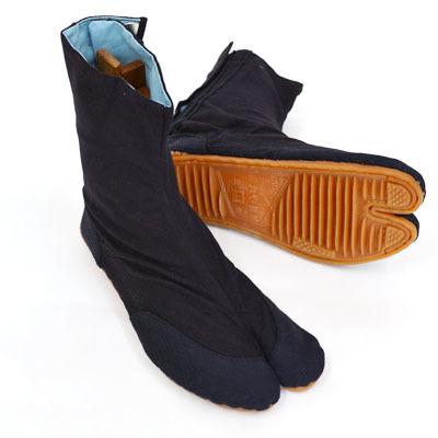 画像1: 【祭足袋】 祭り地下足袋「きねや無敵地下足袋」7枚こはぜ(青縞) (1)