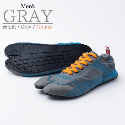 画像1: 【ランニング足袋 - MUTEKI - 】メンズ グレー / Men's GRAY【杵屋無敵】 (1)
