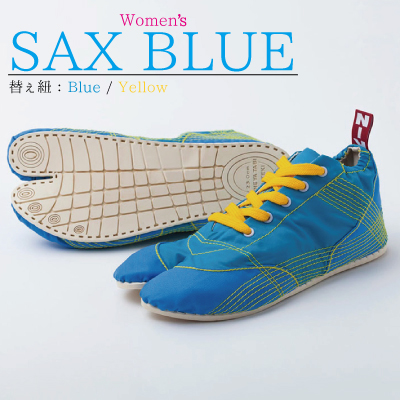画像1: 【ランニング足袋 - MUTEKI - 】レディース サックスブルー / Women's SAX BLUE【杵屋無敵】 (1)