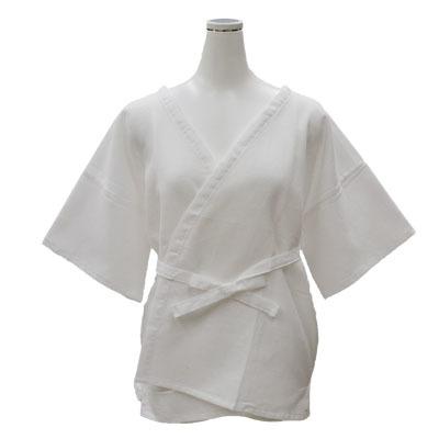 画像1: 【婦人肌着】【夏用下着】 婦人用スクエア織り汗取り襦袢  (1)