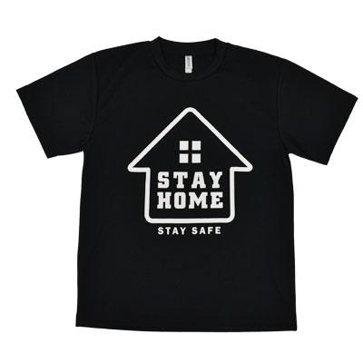 画像1: [Tシャツ] 【STAY SAFE】 ドライTシャツ(STAY HOME) (1)