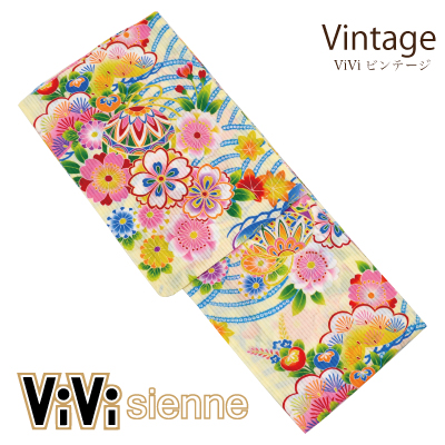 画像1: [ブランド浴衣:ViVi Sienne] 婦人浴衣 [Vintage](捺染)[20%OFF] (1)