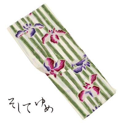 画像1: [ブランド浴衣:そしてゆめ] 婦人浴衣  日本製 (捺染)[20%OFF] (1)