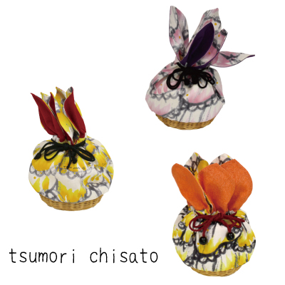 画像1: [tsumori chisato]カゴ巾着バッグ 3色展開 [最終ファイナル価格] (1)