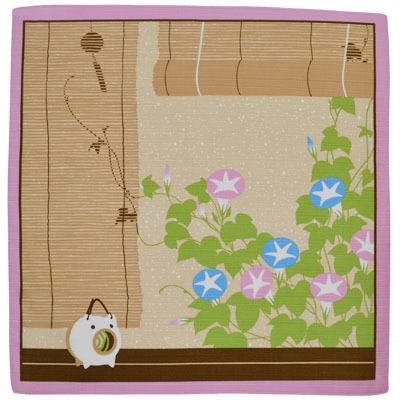 画像1: 【小風呂敷】【花景色】 「夏朝顔」 (1)