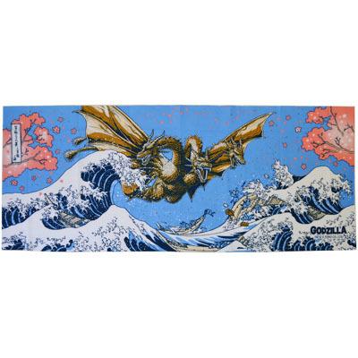 画像1: [捺染手拭い]富嶽キングギドラ 【GODZILLA/ゴジラシリーズ】 (1)