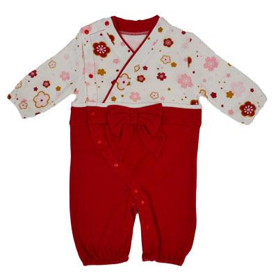 画像1: 【BABY】 コンビドレス袴風タイプ(女の子)  コスプレ 衣裳 かわいい 贈り物 映え 孫 (1)