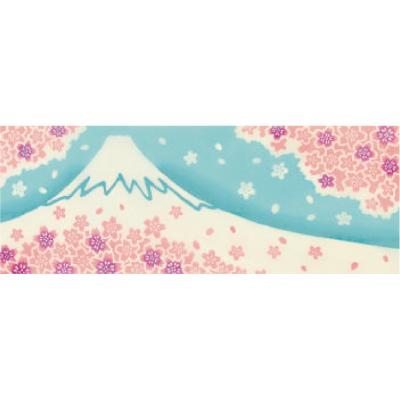 画像1: [和布華:注染手拭い]満開の桜と富士 (1)