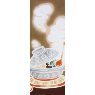 画像1: [和布華:注染手拭い]きょうのお鍋 (1)