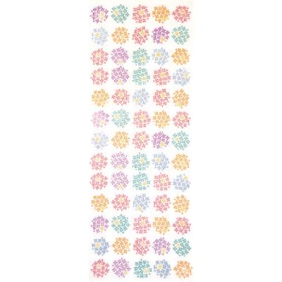 画像1: [和布華:注染手拭い]紫陽花小紋 (1)