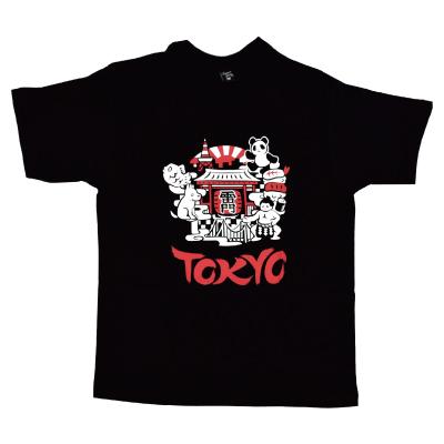 画像1: 【大幅値下】[Tシャツ] 「TOKYOめぐり」ブラック (1)