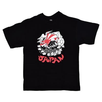 画像1: 【大幅値下】[Tシャツ] 「鶴亀JAPAN」ブラック (1)