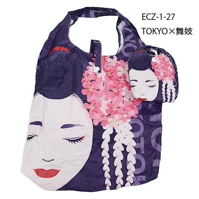 画像1: 【エコバッグ】【SHOPPING BAG】「TOKYO×舞妓」  日本 JAPAN 便利 面白い 大容量 (1)
