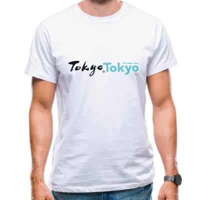 画像1: 【大幅値下】[プリントTシャツ] 「tokyo tokyo」ホワイト 東京 渋谷スクランブルスクエア お土産 suveir  (1)