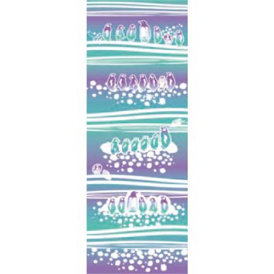 画像1: [和布華:注染手拭い]南極ぐらし (1)