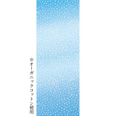 画像1: [和布華:注染手拭い]青あられ オーガニックコットン生地使用 (1)