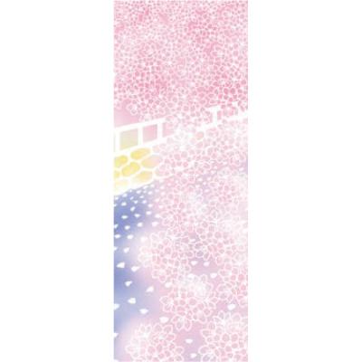 画像1: [和布華:注染手拭い]川と風と桜 (1)