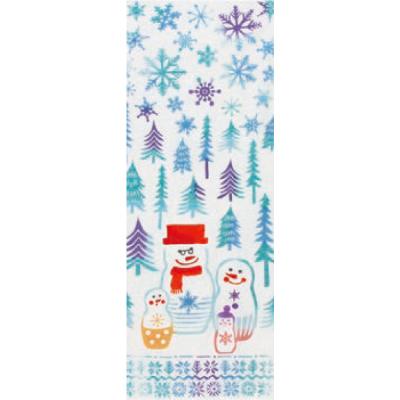 画像1: [和布華:注染手拭い]雪だるまのマトリョーシカ (1)
