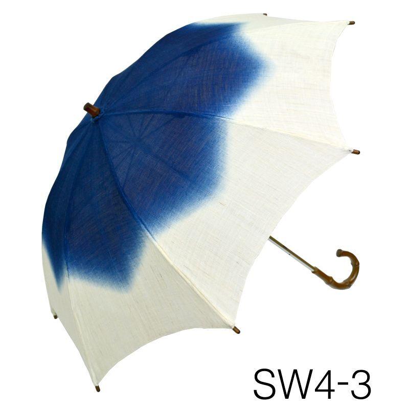 画像1: 【本麻日傘】「 -藍染- No.191-54」 (1)