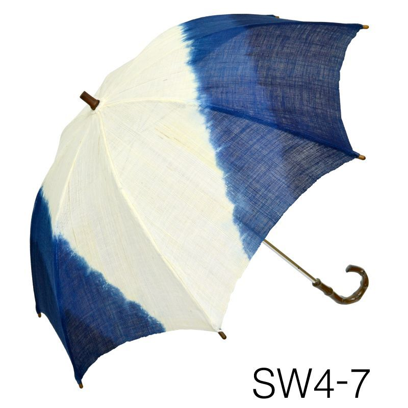 画像1: 【本麻日傘】「 -藍染- No.191-72」 (1)