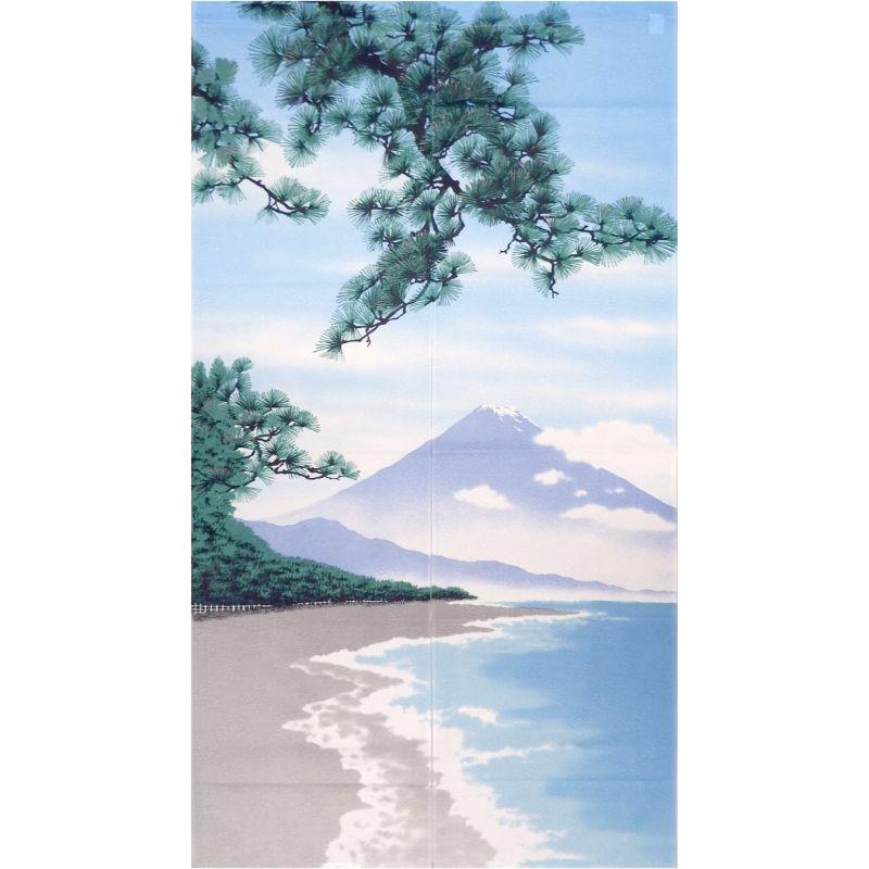 画像1: 【のれん】「四季:夏富士」ポリエステル 日本製 (1)